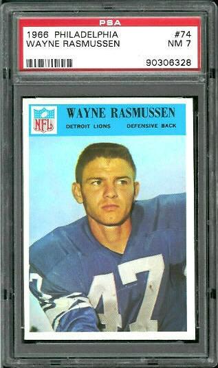 1966 Philadelphia #74 - Wayne Rasmussen - PSA 7