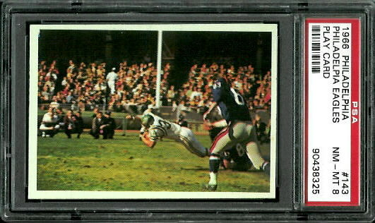 1966 Philadelphia #143 - Eagles Play - PSA 8