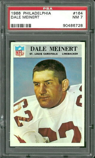 1966 Philadelphia #164 - Dale Meinert - PSA 7