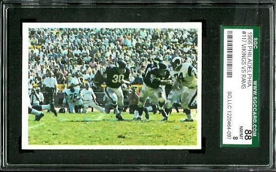 1966 Philadelphia #117 - Vikings Play - SGC 88