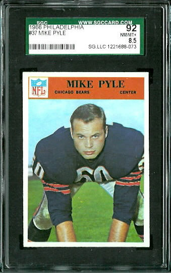 1966 Philadelphia #37 - Mike Pyle - SGC 92