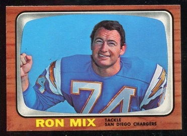 1966 Topps #128 - Ron Mix - nm