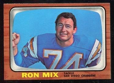 1966 Topps #128 - Ron Mix - nm