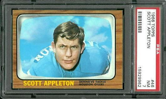 1966 Topps #46 - Scott Appleton - PSA 7