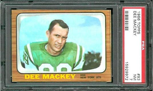 1966 Topps #93 - Dee Mackey - PSA 7