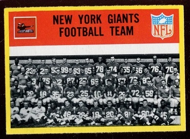 1967 Philadelphia #109 - New York Giants Team - nm+