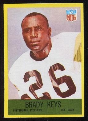 1967 Philadelphia #153 - Brady Keys - exmt