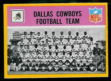 1967 Philadelphia #49 - Dallas Cowboys Team - ex