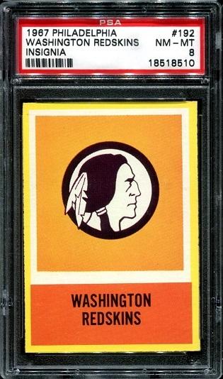 1967 Philadelphia #192 - Redskins Logo - PSA 8
