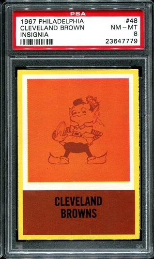 1967 Philadelphia #48 - Browns Logo - PSA 8
