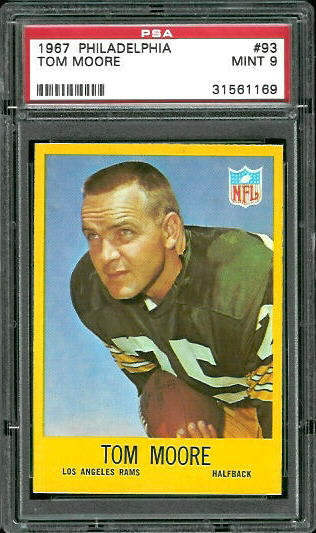 1967 Philadelphia #93 - Tom Moore - PSA 9