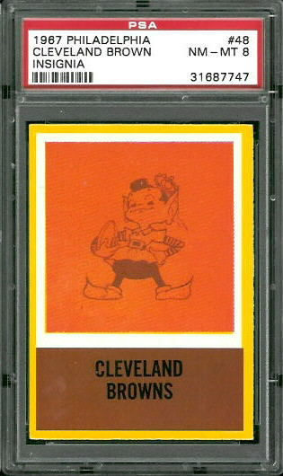 1967 Philadelphia #48 - Browns Logo - PSA 8