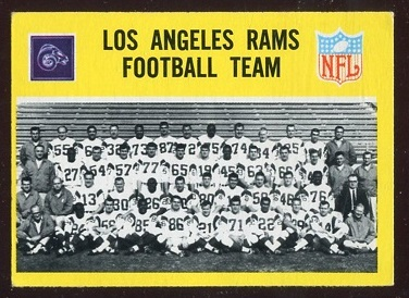 1967 Philadelphia #85 - Los Angeles Rams Team - ex