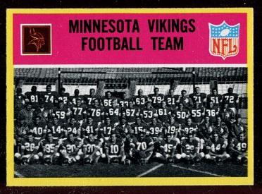 1967 Philadelphia #97 - Minnesota Vikings Team - nm