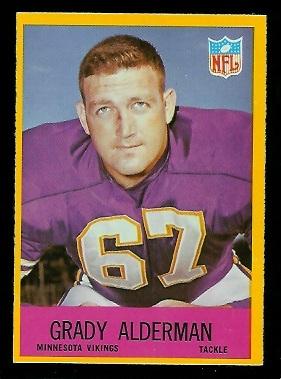 1967 Philadelphia #98 - Grady Alderman - vg-ex