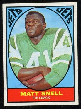 1967 Topps #102 - Matt Snell - exmt