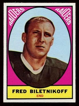1967 Topps #106 - Fred Biletnikoff - nm