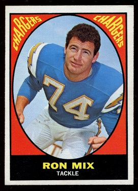 1967 Topps #125 - Ron Mix - nm