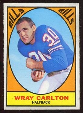 1967 Topps #19 - Wray Carlton - ex