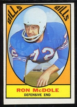 1967 Topps #25 - Ron McDole - ex
