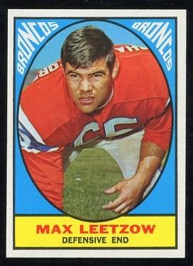 1967 Topps #40 - Max Leetzow - exmt