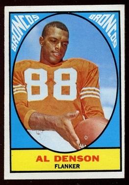 1967 Topps #43 - Al Denson - exmt