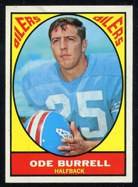 1967 Topps #48 - Ode Burrell - exmt