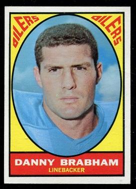 1967 Topps #57 - Danny Brabham - exmt