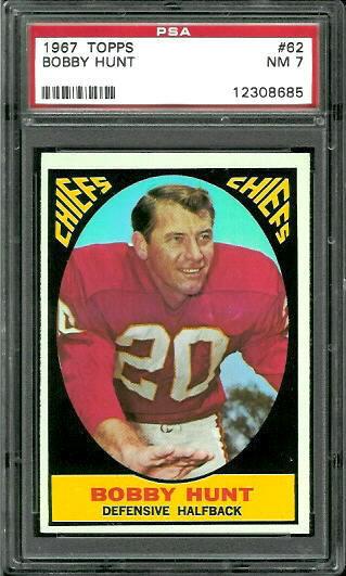 1967 Topps #62 - Bobby Hunt - PSA 7
