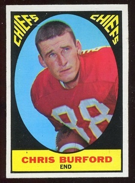 1967 Topps #72 - Chris Burford - exmt