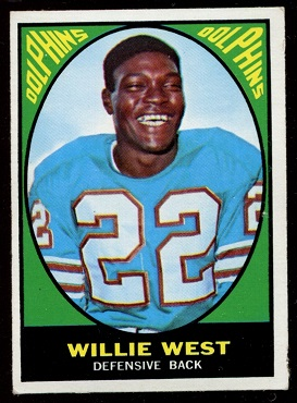 1967 Topps #80 - Willie West - exmt