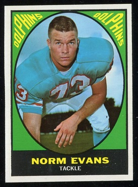 1967 Topps #85 - Norm Evans - nm