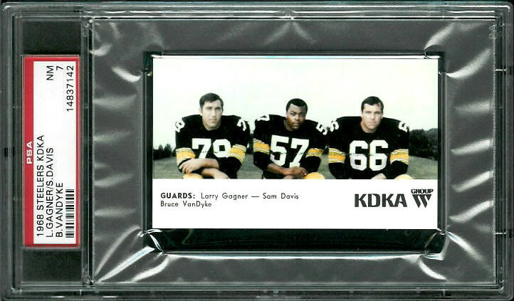 1968 KDKA Steelers #8 - Guards - PSA 7