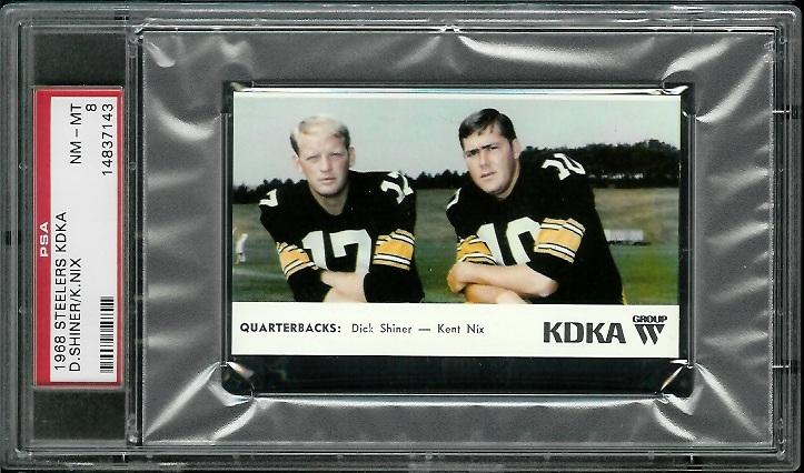 1968 KDKA Steelers #10 - Quarterbacks - PSA 8