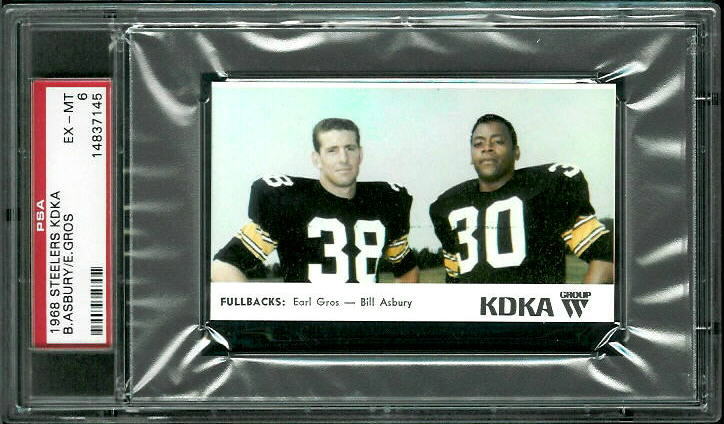1968 KDKA Steelers #7 - Fullbacks - PSA 6