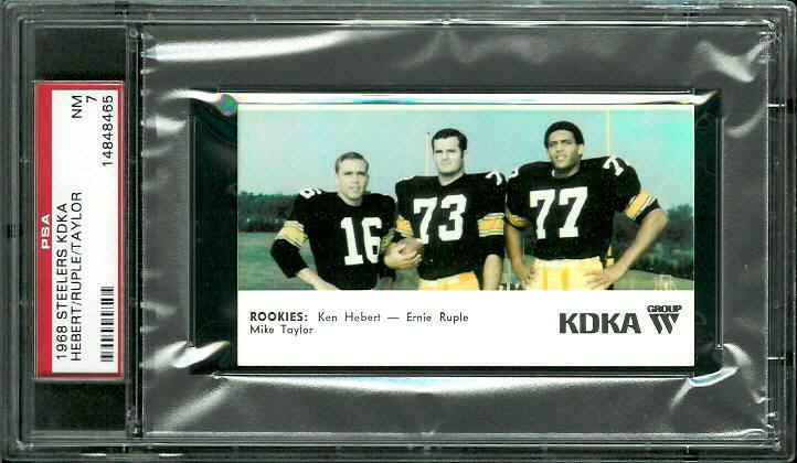 1968 KDKA Steelers rookies: Mike Taylor, Ken Hebert, Ernie Ruple