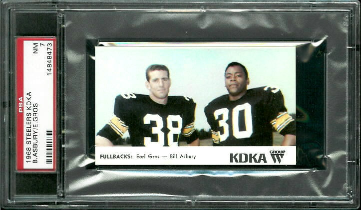 1968 KDKA Steelers #7 - Fullbacks - PSA 7