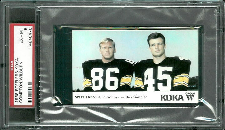 1968 KDKA Steelers #13 - Split Ends - PSA 6