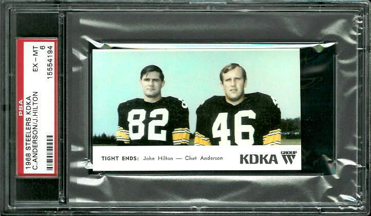 1968 KDKA Steelers #15 - Tight Ends - PSA 6