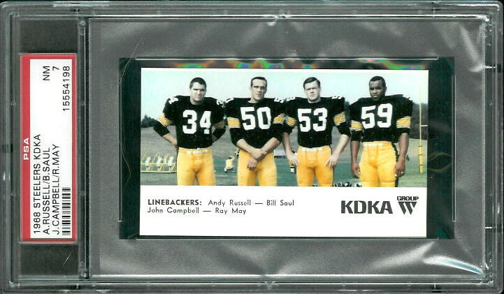 1968 KDKA Steelers #9 - Linebackers - PSA 7