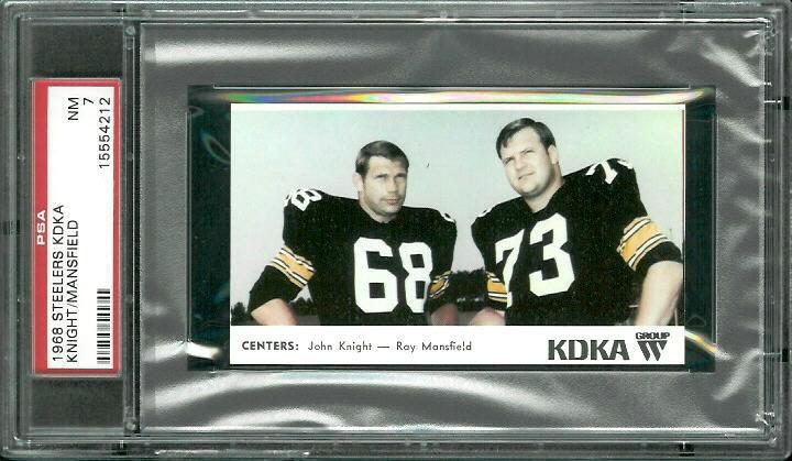 1968 KDKA Steelers #1 - Centers - PSA 7