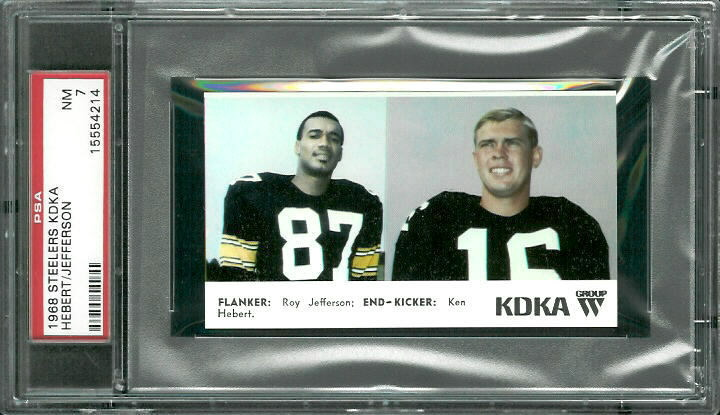 1968 KDKA Steelers #6 - Flanker - End - PSA 7