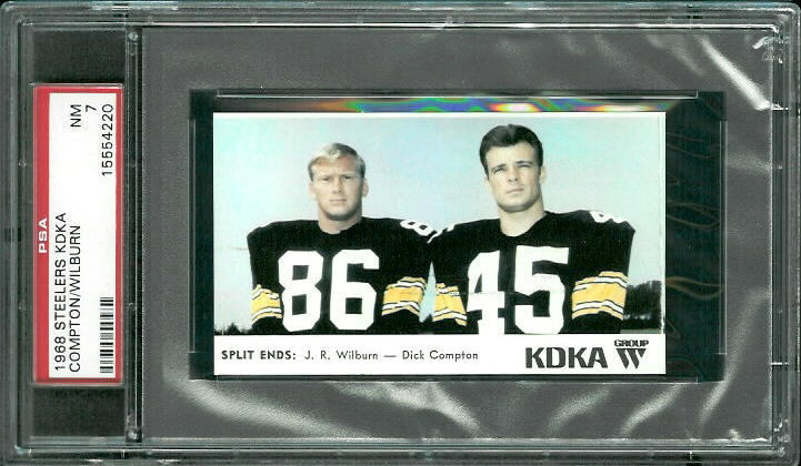 1968 KDKA Steelers #13 - Split Ends - PSA 7