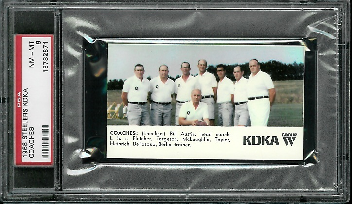 1968 KDKA Steelers #2 - Coaches - PSA 8