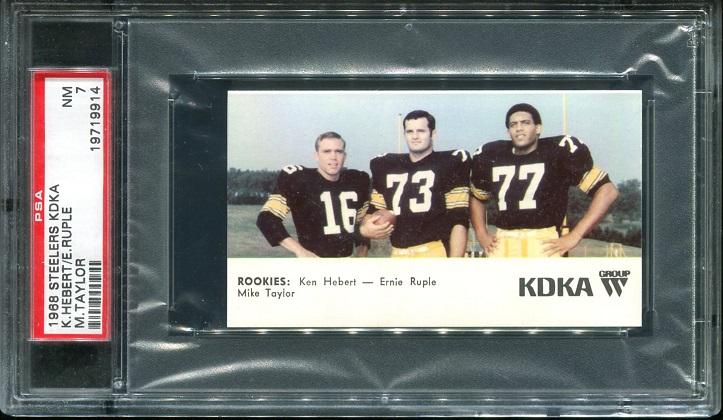 1968 KDKA Steelers #11 - Rookies - PSA 7