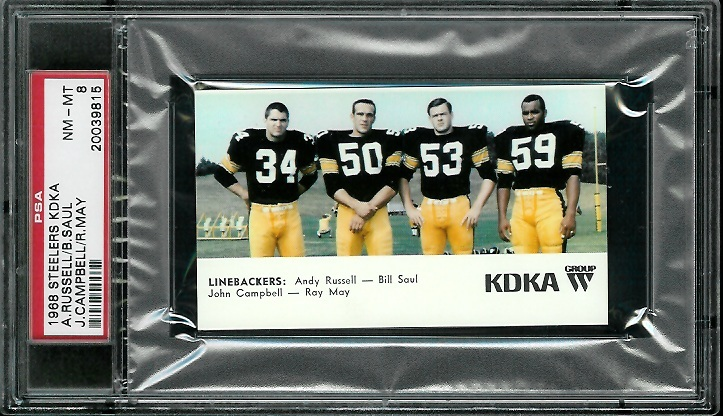 1968 KDKA Steelers #9 - Linebackers - PSA 8