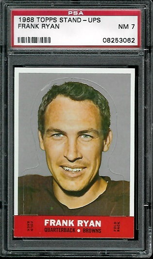 1968 Topps Stand Up #21 - Frank Ryan - PSA 7