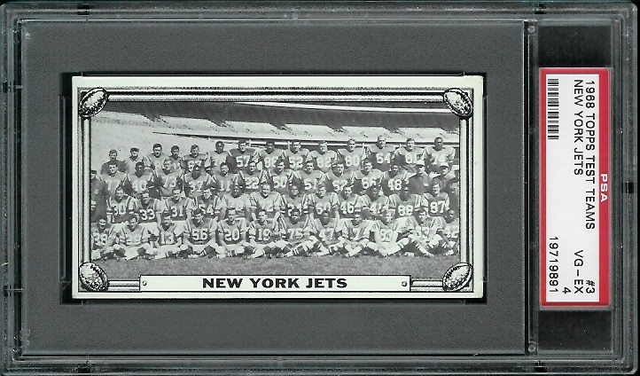 1968 Topps Test Team Photos #3 - New York Jets Team - PSA 4