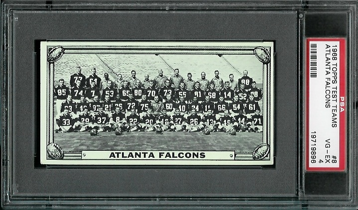 1968 Topps Test Team Photos #8 - Atlanta Falcons Team - PSA 4