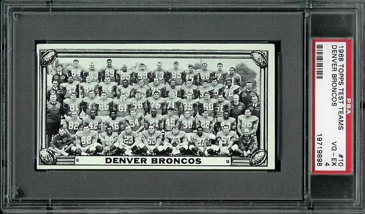 1968 Topps Test Team Photos #10 - Denver Broncos Team - PSA 4